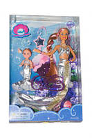 Набор кукла defa 21011 Русалочка в серебристом меняет цвет волос с аксессуарами