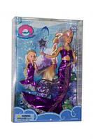 Набор кукла defa 21011 Русалочка в фиолетовом меняет цвет волос с аксессуарами