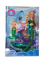 Набор кукла defa 21011 Русалочка в зеленом меняет цвет волос с аксессуарами