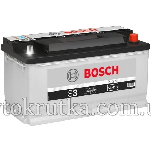 Аккумулятор Bosch S3 013 90Ah 12V