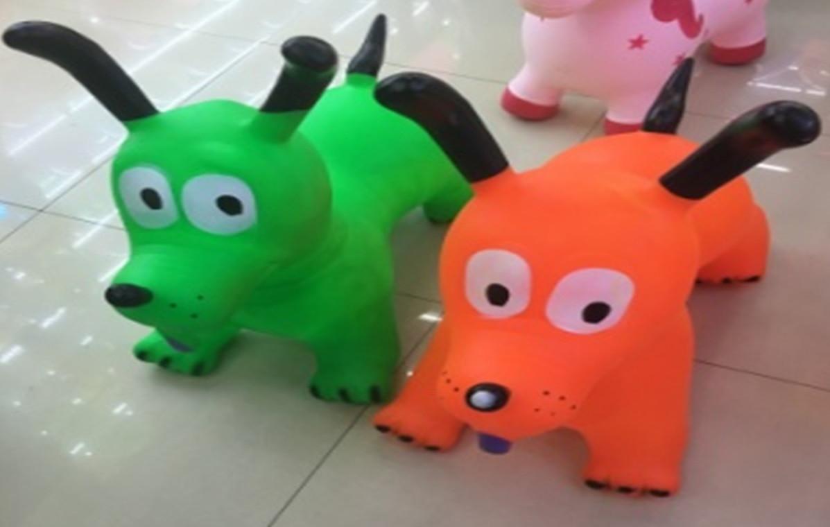 Прыгун резиновый собака 1350g, 5 видов /30/