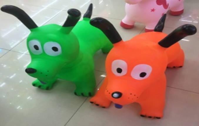 Прыгун резиновый собака 1350g, 5 видов /30/, фото 2