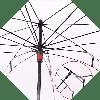 Зонт наоборот, Бордовый с узором || Up-brella (анти-зонт), фото 4