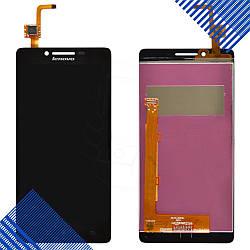 Дисплей Lenovo K3 A6000 (A6010) с тачскрином в сборе, цвет черный