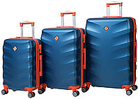 Набор чемоданов на колесах Bonro Next Синий 3 штуки