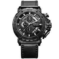 Мужские кварцевые часы Break 5690. Водостойкие часы с хронографом.