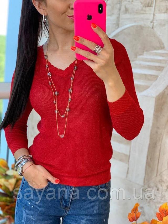 женский силуэтный свитер