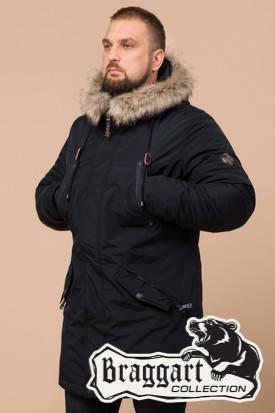Мужской черный зимний пуховик Braggart (р. 46-56) арт. 26620B, фото 2
