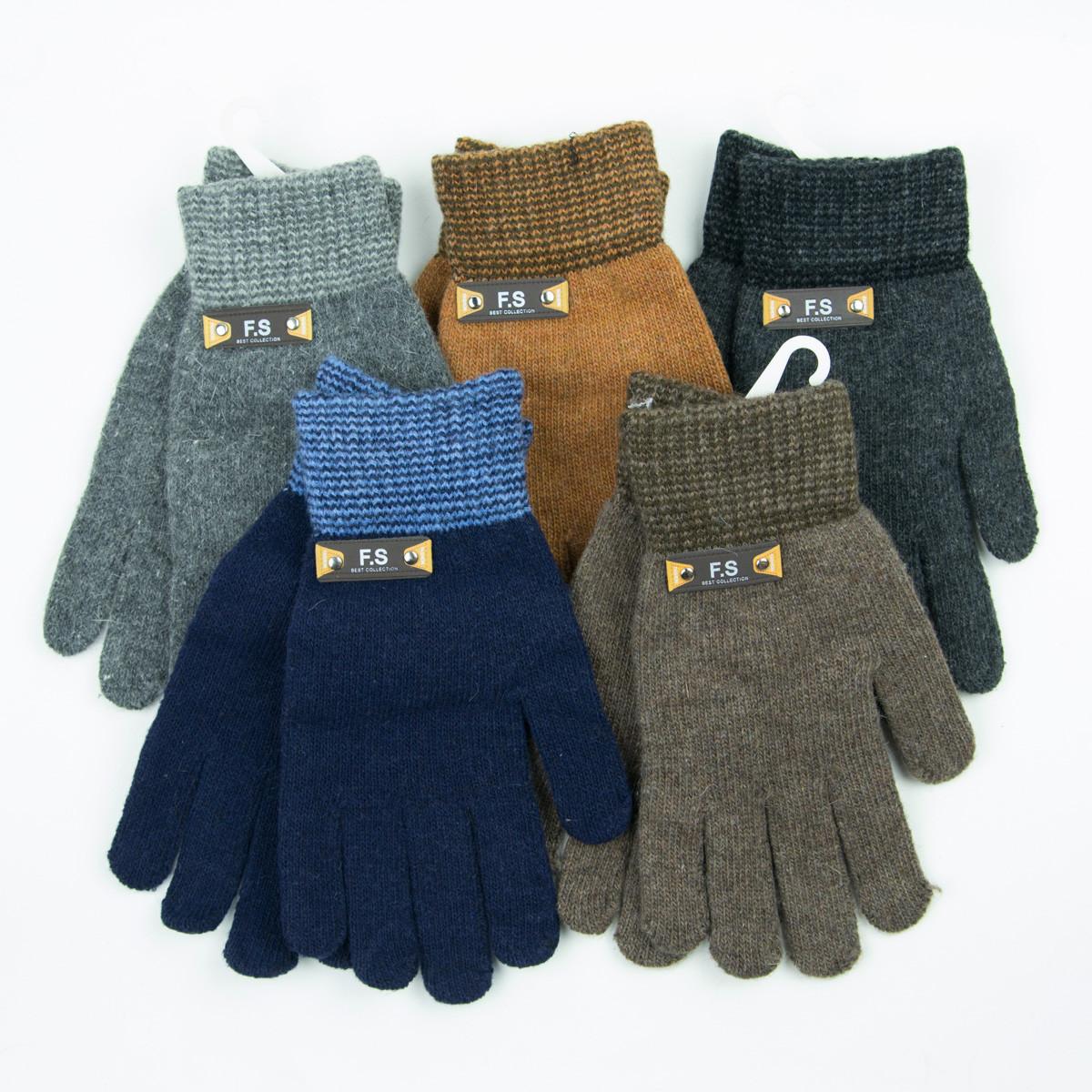 Оптом подростковые демисезонные перчатки для мальчиков от 15 лет - 19-7-57