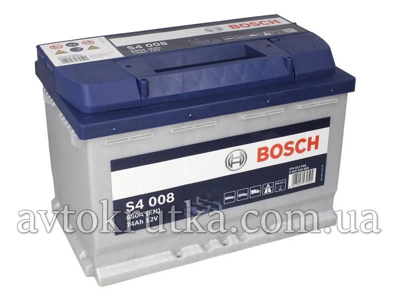 Аккумулятор Bosch S4 008 Silver 74Ah 12V