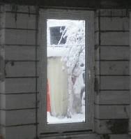 Одностворчатое металлопластиковое окно с открыванием Rehau Euro 60 с двухкамерным стеклопакетом