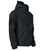 Куртка тактическая Softshell Esdy Shark Skin 01. Черная