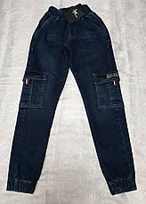 Стильные джинсы - джоггеры для мальчиков 152,158,164,170,176 роста, фото 2