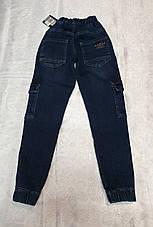Стильные джинсы - джоггеры для мальчиков 152,158,164,170,176 роста, фото 3