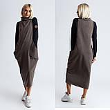 Платье комбинированное миди / двунитка, джерси с начесом / Украина 1-550, фото 8