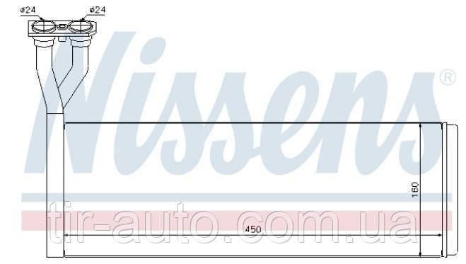 Радиатор печки SCANIA P/R/G/T 07- ( NISSENS ) 75005
