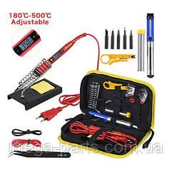 Паяльный набор в футляре регулируемая температура 220 в 80 Вт 80 Вт мощный паяльник ЖК дисплей модель 908S-20