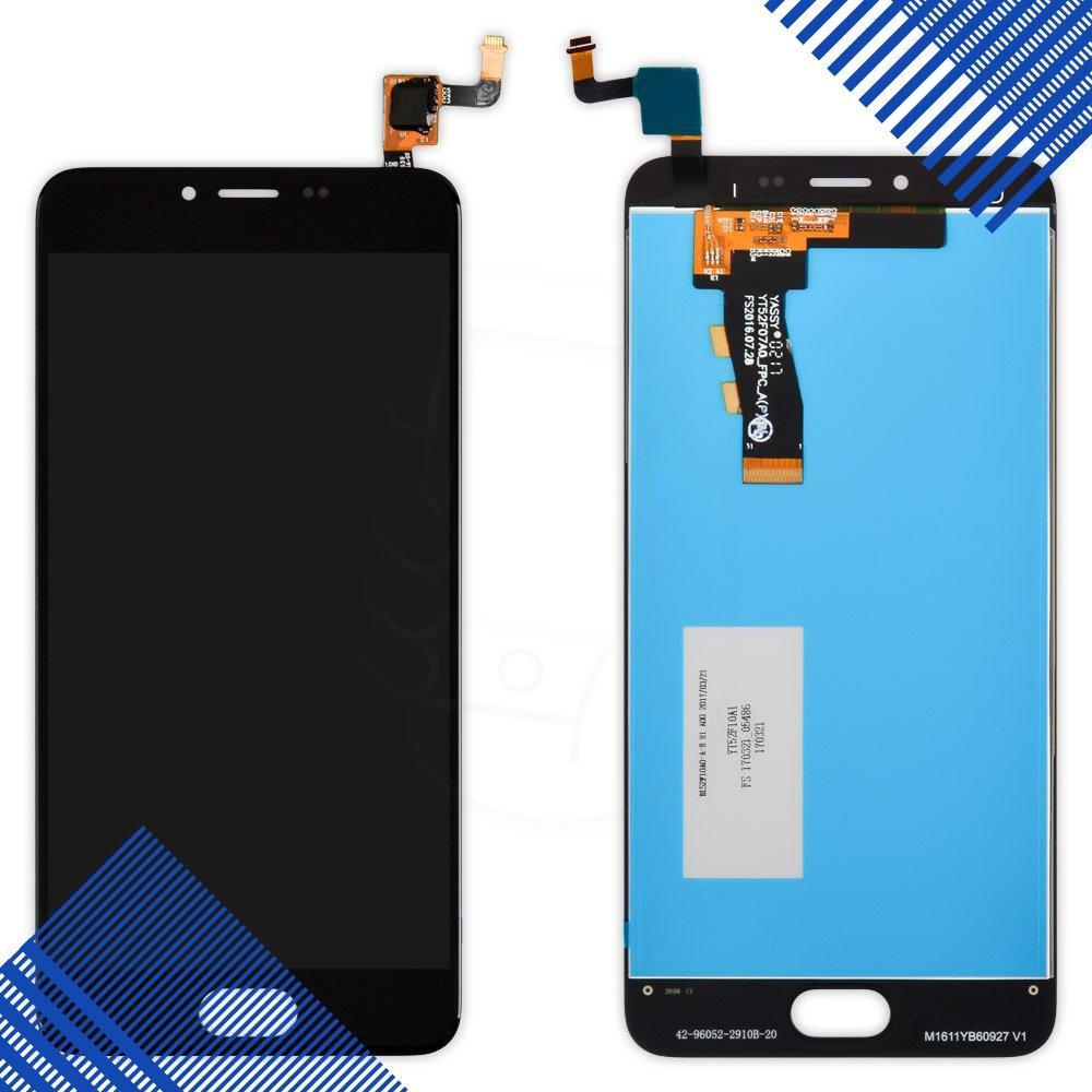 Дисплей (экран) Meizu M5, M5 mini с тачскрином в сборе, цвет черный