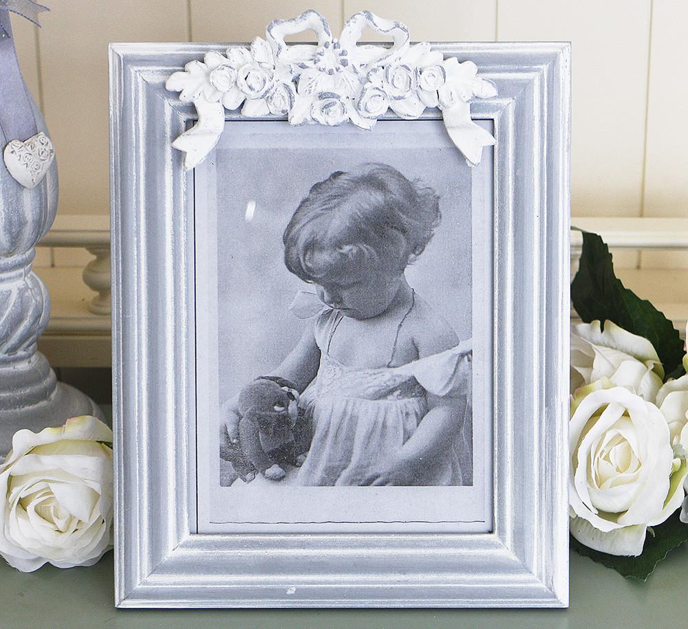 Фоторамка серая с лепным декором Гранд Презент 258059