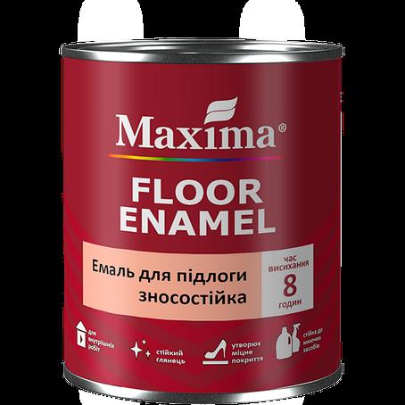 """Эмаль износостойкая для полов TM """"Maxima"""" желто-коричневая (RAL 8003) - 2,3 л., фото 2"""