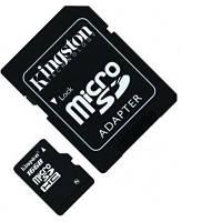 Flash карта microSDHC 16GB Kingston Class 4 + SD-адаптер (SDC4 / 16GB)