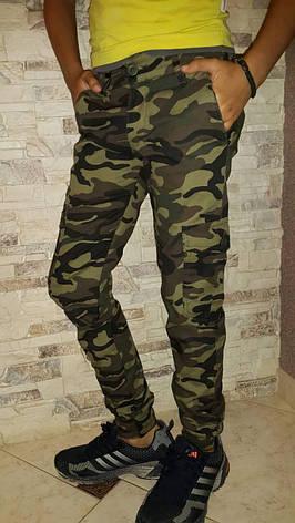 Стильные камуфляжные брюки карго для мальчиков 140,146,152,158,164,170,176 роста, фото 2