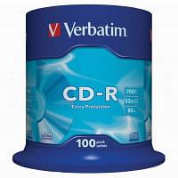 Оптические диски 100шт. Verbatim CD-R 700Mb Extra 43411