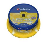 Диски Verbatim DVD + RW 4.7Gb Silver 43489