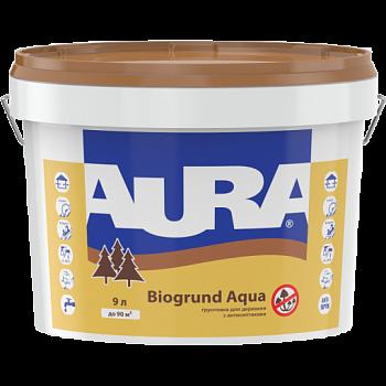 """Акриловая деревозащитная грунтовка ТМ """"Aura"""" Biogrund Aqua (безцветный) - 2,5 л."""