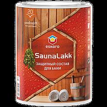 """Акриловый водоразбавимый лак для для бани ТМ """"ESKARO"""" Saunalakk - 0,95 л."""