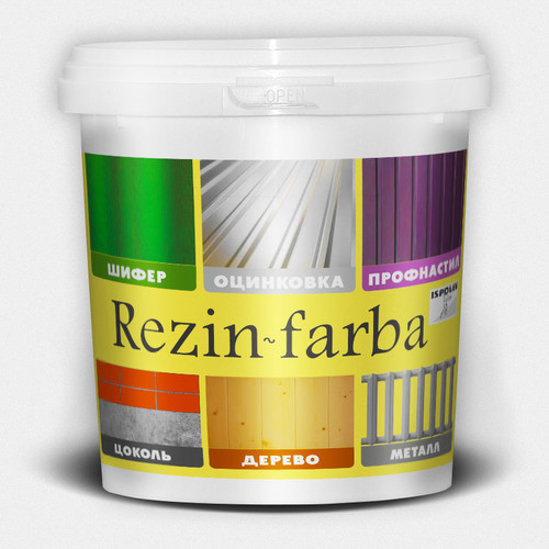 "Резиновая краска для крыш, оцинковки ТМ ""Ispolin"""" Rezin-Farba (зеленая) - 5,0 л."
