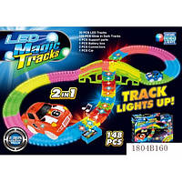 Трек-конструктор Magic Tracks светящийся 148 эл