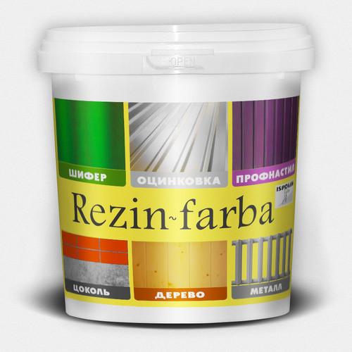 "Резиновая краска для крыш, оцинковки ТМ ""Ispolin"""" Rezin-Farba (черная) - 10,0 л."