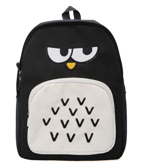 Рюкзак Городской сова черный