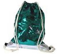 Мешок для обуви 13791 с пайетками (Бледно Зеленые-Серебрянные) 42х32см уп12