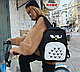 Рюкзак Городской сова черный, фото 5