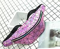 Голограммная поясная сумка, бананка розовая, Женские сумки