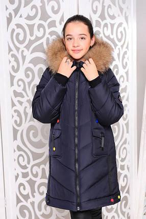 Зимове пальто на дівчинку Мішель 34,36 р, фото 2