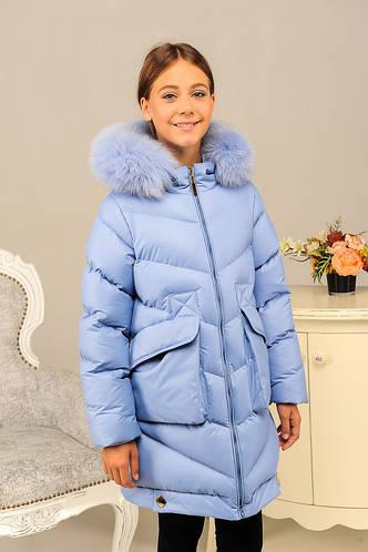 Оригинальна зимняя куртка на девочку «Катрина»