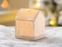 Led ночник домик французский белая керамика d10см Гранд Презент 1008478-1 двух этаж