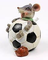 Сувенир с символом 2020 копилка крыса футбольный мяч