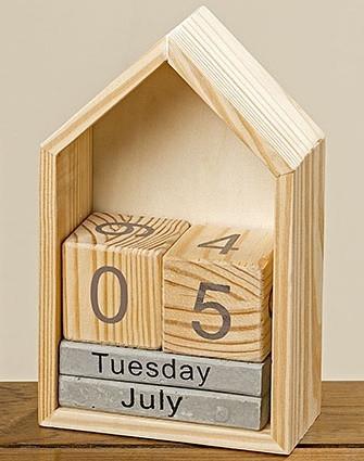 Настольный вечный календарь домик h22см Гранд Презент 1004254