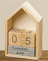 Настольный вечный календарь домик h22см Гранд Презент 1004254, фото 1