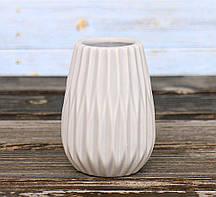 Ваза Вильма серая керамика h14d8cm Гранд Презент 1002074-1 серый