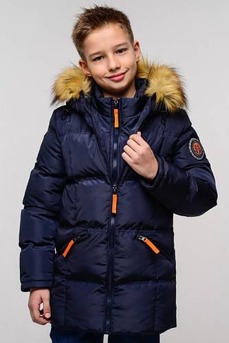 Зимняя куртка на мальчика Том,эко-мех енот