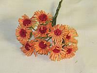 Цветочки тканевые Ромашки 2см (10шт), фото 1