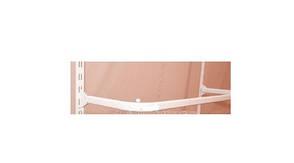 Вешало дуга овальная в рейку белого цвета .0.50см, фото 2