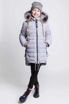 Зимнее пальто для девочки zkd-4 (122-164р) , фото 2