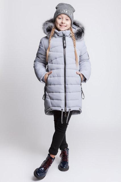 Зимнее пальто для девочки zkd-4 (122-164р)