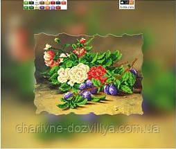 "Схема для вышивки бисером на подрамнике (холст) ""Натюрморт со сливами"", фото 2"